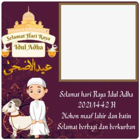 100 Link Twibbon Idul Adha 1442 H 6