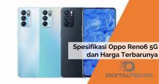 Spesifikasi Oppo Reno6 5G dan Harga Terbarunya