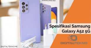 Spesifikasi Samsung Galaxy A52 5G Lengkap 2021