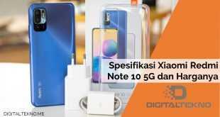 Spesifikasi Xiaomi Redmi Note 10 5G dan Harganya